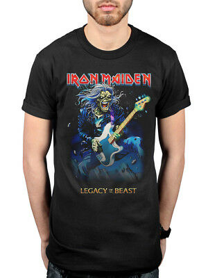 Official Iron Maiden Eddie Bass T-Shirt Legacy Of The Beast Brand New World
