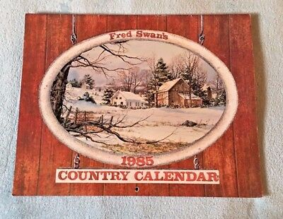 1985 Fred Swan Country Wall Calendar - MATCHES 2019 - Excellent - USEFUL 2019