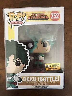 Funko Pop! Deku Battle Hot Topic Exclusive My Hero Academia In Hand + Protector