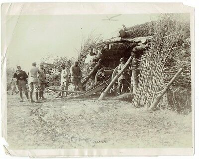 WWI PRESS PHOTO- French Artillery Battery No. 90 - Verdun