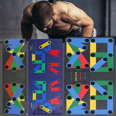 15in1 Push Up Rack Board System Fitness Workout Train Gym Exercise Stands
