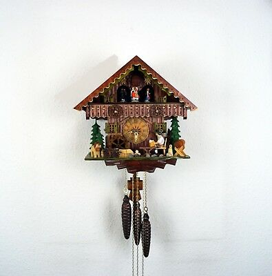 Mechanical 'Regula' Musical Dual Tune/ Dancers& Moving parts Cuckoo Clock  ,New