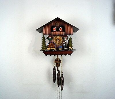 Musical Mechanical 'Regula' Dual Tune/ Dancers,Moving Figures,  Cuckoo Clock,New