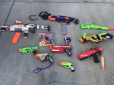 NERF Gun LOT Includes N-strike B1538 Modulus ECS-10 Blaster