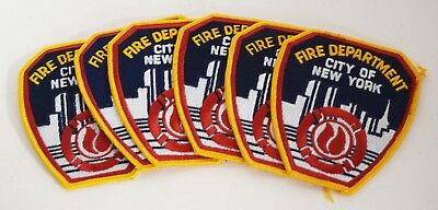Lot of 6 FDNY City of New York Fire Department Patch  AG820