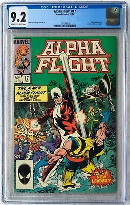 Cgc 9.2 Alpha Flight #17 .. X-Men 109 Cover Swipe ..