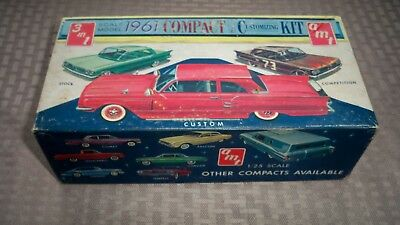 Original AMT Plastic Model 1961 3 in 1 Compact Car Customizing Kit Vintage Old