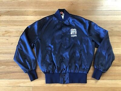 Vtg 70s 80s Empire Sporting Goods MFG. Co. NYC Flying Tigers Satin Jacket Size L