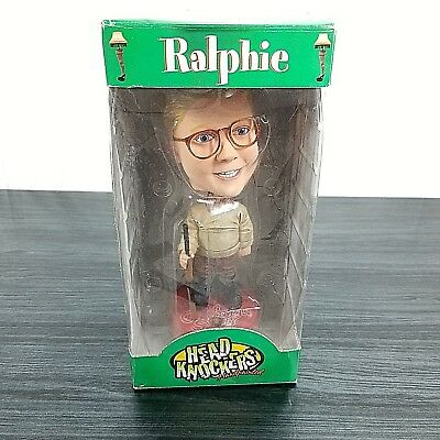 Head Knockers 90's Hand Painted A Christmas Story Ralphie Bobble Head New