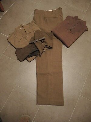 US 1944 Army   Trousers Wool, Short Wool, Gloves Wool Leather Palm