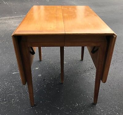 Mid Century Modern Drop Leaf Dining Table Wormley Widdicomb Heywood Wakefield