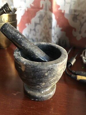 Granite Mortar and Pestle Set Solid Stone Grinder Bowl For Guacamole Herbs Spice