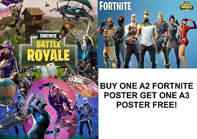 2 x A2 & A3 FORTNITE Posters 'Buy One Get Second Free' Wall Prints JANUARY DEAL