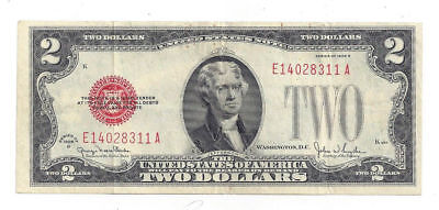 1928G United States of America $2 United States Note - E14028311A
