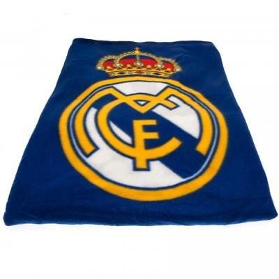 Real Madrid FC Official Crested Fade Fleece Blanket GREAT XMAS GIFT