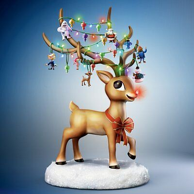 Rudolph the Red Nosed Reindeer Illuminated Musical Figurine by Bradford Exchange