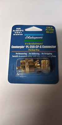 Shakespeare PL-259-CP-G - Solderless PL-259 Connector for RG-8X or RG-58/AU Coax