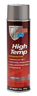 POR-15 44218 High Temp Manifold Gray Paint 15 oz. Aerosol