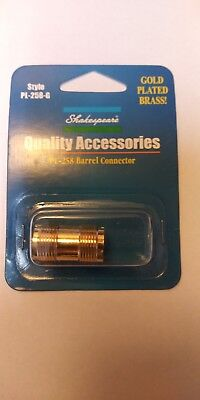 Shakespeare PL-258-G Barrel Connector Gold Plated Brass