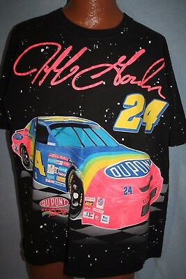 Vintage JEFF GORDON 1995 Dupont 24 Car NUTMEG T-SHIRT XL Nascar MONTE CARLO