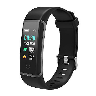 (Gray Black) - BingoFit Unique Fitness Tracker, Colour Screen Activity Tracker