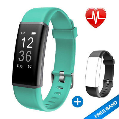 (Green + Replacement Band) - Lintelek Fitness Tracker, Customised Activity