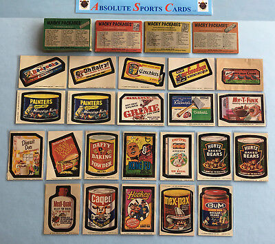 Orignal-Vtg WACKY PACKAGES Checklist-Puzzle-Sticker LOT x 52   7-8-9-10th Series