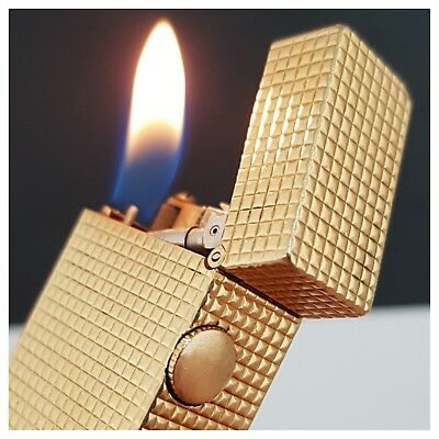Briquet OR massif 18K * DUNHILL * Solid Gold jacket 18K Lighter-Feuerzeug-打火机