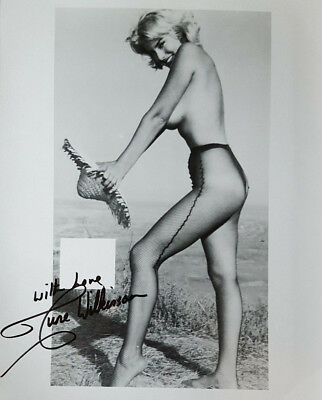 JUNE WILKINSON SIGNED 8x10 PHOTO LOT A Playboy 1958