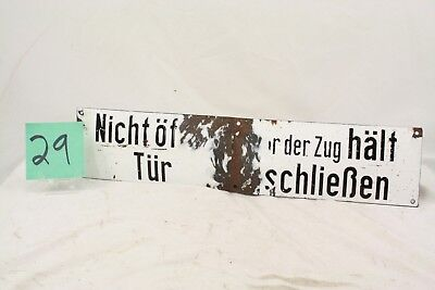 Ww2 German Enamel Railroad Sign