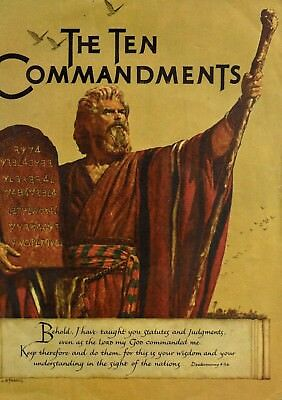 The Ten Commandments Vintage 1956 Book for film tie in Cecil B DeMille 12 x 10