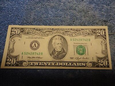 1993 Boston $20 FRN printed in DC - Nice Note at Great Price
