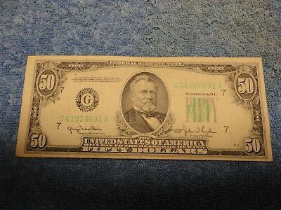 1950 $50 Chicago FRN - Nice Note at Great Price, Take a Look!!!