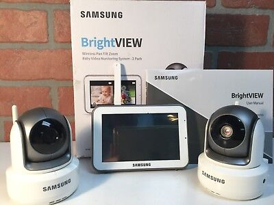 Samsung BrightVIEW Baby Video Monitor w/ 2 Cameras (SEW-3043WND)