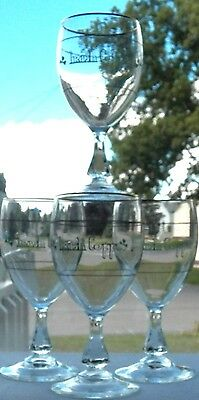 Very Lovely Set Of 4 Irish Coffee Glasses By Cristal D'arques-Durand Of France