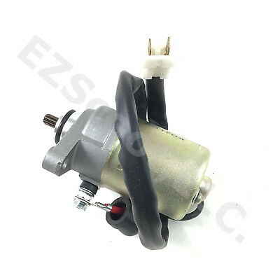Starter Motor Engine 2 Pin 10Teeth 139Qmb Gy6 4T Scooter Moped Atv Taotao Bms