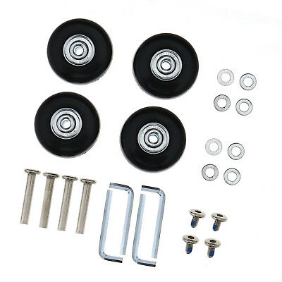 4 pcs Luggage Suitcase Replacement Wheels Axles Rubber Deluxe Repair OD 45mm