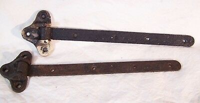 Antique Pair of Cast Iron STRAP HINGES Pin/Pintle Barn Shed House Door 19""