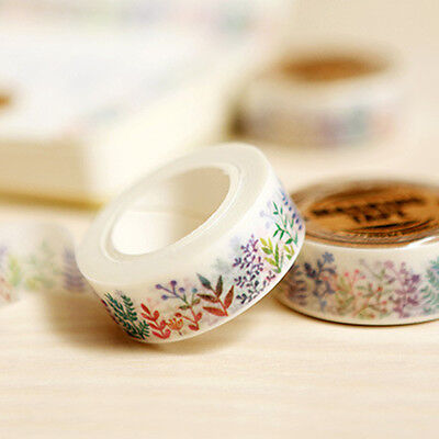 Herbaceous Plant Washi Tape Masking Adhesive Decorations Scrapbooking Planner