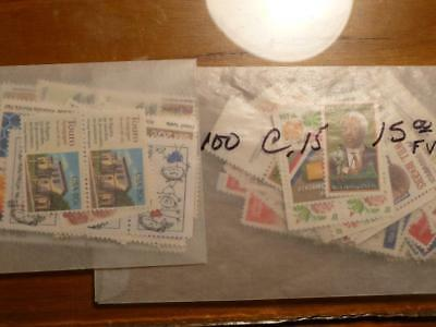US Discount Postage 50 Cent 3 Stamps Combo (15 & 20c) FV $25.00 (MNH) SKU#14188
