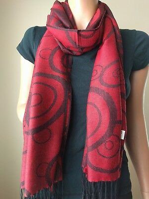 "2-ply 30""X74"" Pashmina Scarf Shawl Wrap,Solid Color/Paisley/Geometric Prints,NEW"