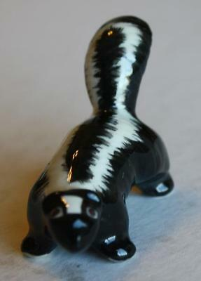 Baby Skunk Bone China Figurine Made in Japan-Hand Painted-Adorable-MUST SEE