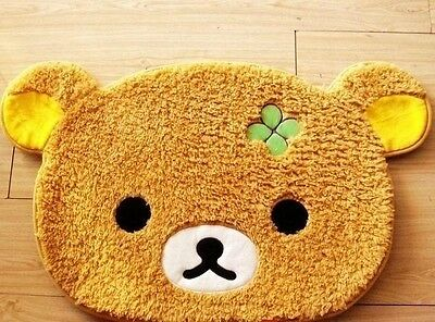 35x22'' Rilakkuma San-X Relax Bear Plush Doormat Rug Carpet Bedroom Dining Room