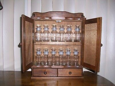 Vintage Spice Rack with 12 new ( unused) # 6 Spice bottles