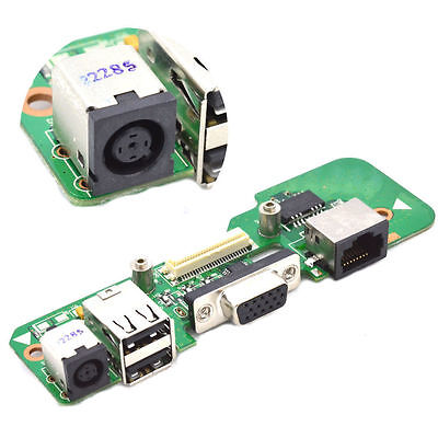 DELL INSPIRON 1545 48.4AQ03.021 DR1 ROUND DC JACK POWER BOARD USB Ethernet 01208