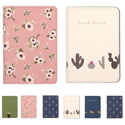 Cartoon Travel Wallet Leather Passport Holder Document Cards Tickets Organiser