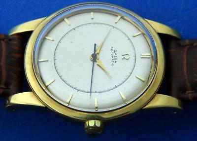 A 75. Omega Automatic 18K Solid Gold Cal 351 Ref. 2494 Bumper Automatic 36Mm