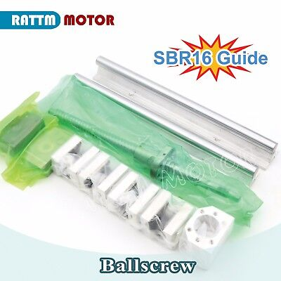 SFU1605-300MM Ballscrew C7 Standard+BK/BF12 End+2x SBR16-300MM CNC Router Parts