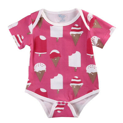 2019 Newborn Baby Girl Bodysuit Romper Jumpsuit Playsuit Sunsuit Clothes 0-18M