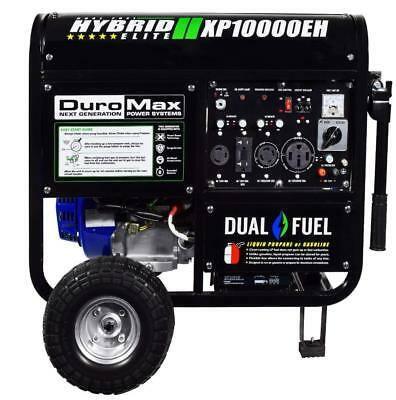 DuroMax XP10000EH 10000 Watt Generator LP Propane Gas Dual fuel w electric start